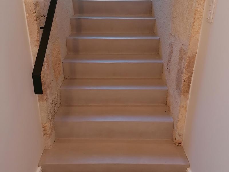Béton Ciré sur escalier